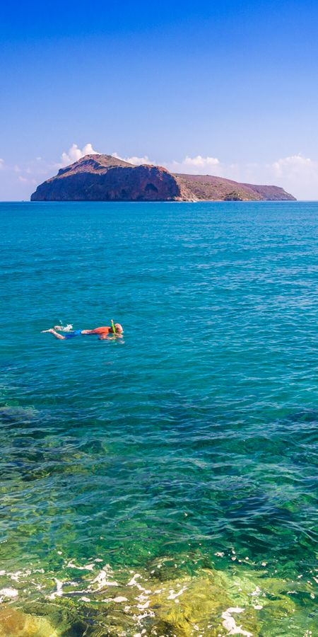 Have you ever try snorkeling? No? You should! Platanias beach in Crete