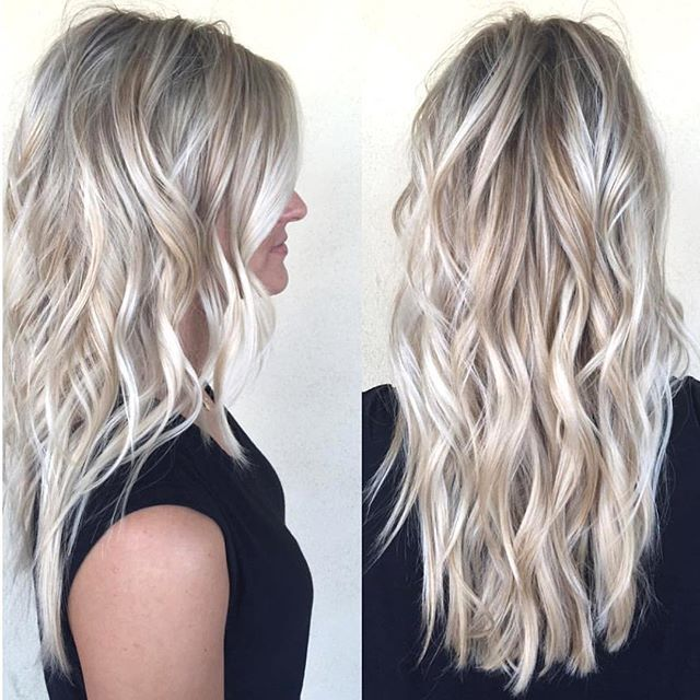 Blonde bombshell by habit stylist @hairbytallie
