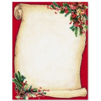 Christmas scroll letterhead border papers holiday for Scroll letter from santa