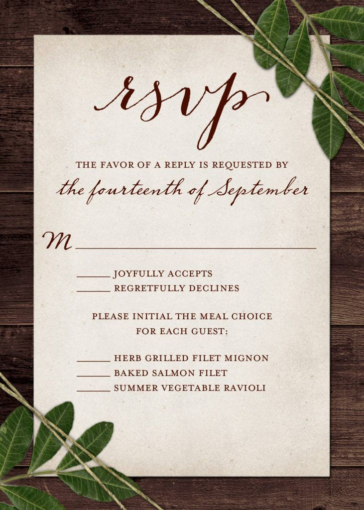 Wedding RSVP Wording and Card Etiquette 2019 Wedding