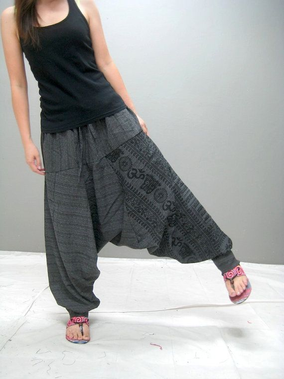 LOVE LOVE LOVE these pants!!!!! Ohm Harem pant black by thaitee on Etsy, $39.00