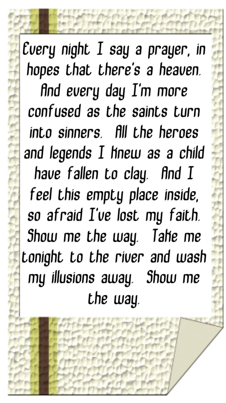 Show me the way - Peter Frampton - lyrics - YouTube