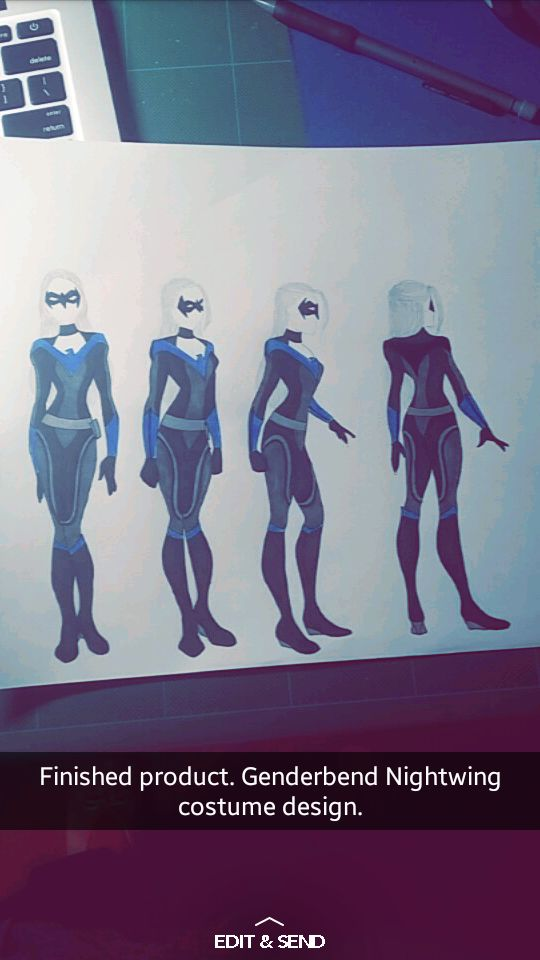 Fem!Nightwing costume design.