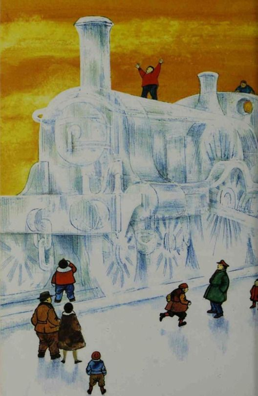 Raymond Briggs illustration from 'An Anthology of Festivals'. Possibly the Japanese Ice Festival?