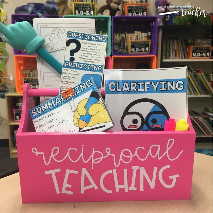 This garden bin from Target is the perfect container for my Reciprocal Teaching resources. I can carry it with me from a whole group setting to meeting with small groups. Download your Reciprocal Teaching pack today!