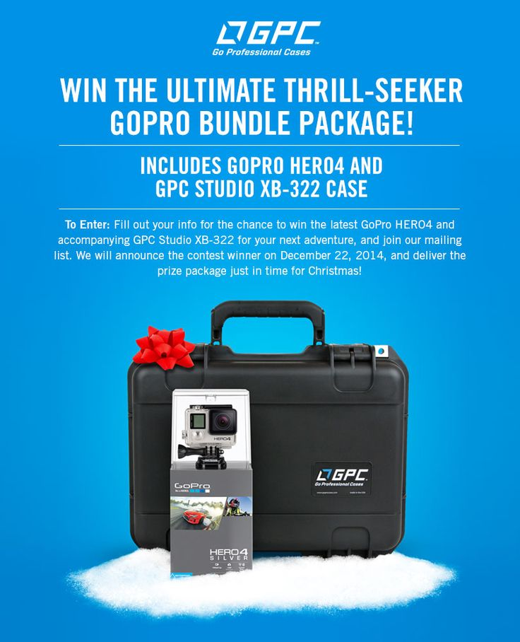 Win the latest GoPro HERO4 and more!