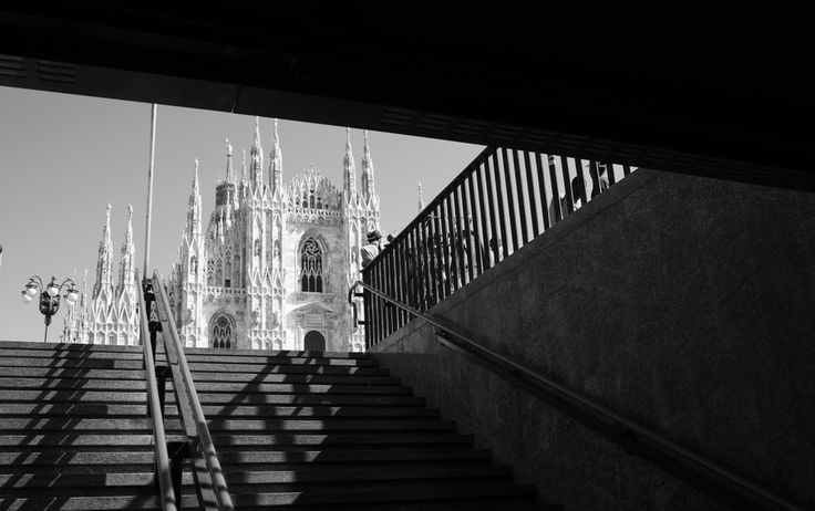 My first view of the Duomo was coming up out of this subway exit. Breathtaking! Milano - Subway exit by AnaMartiins on 500px
