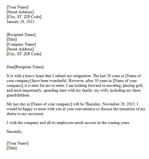 10 best Resignation Letters images on Pinterest Two week notice - daycare resume
