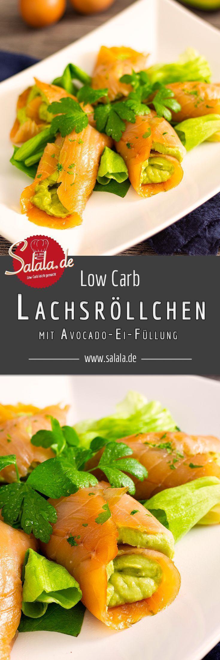 Salmon rolls with avocado and egg cream  -  Hautpflege-Rezepte