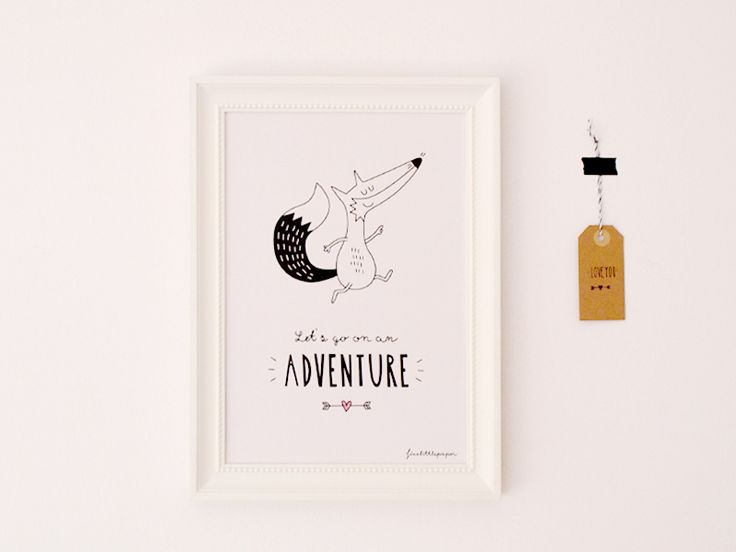 Poster LET'S GO ON AN ADVENTURE von finelittlepaper auf DaWanda.com