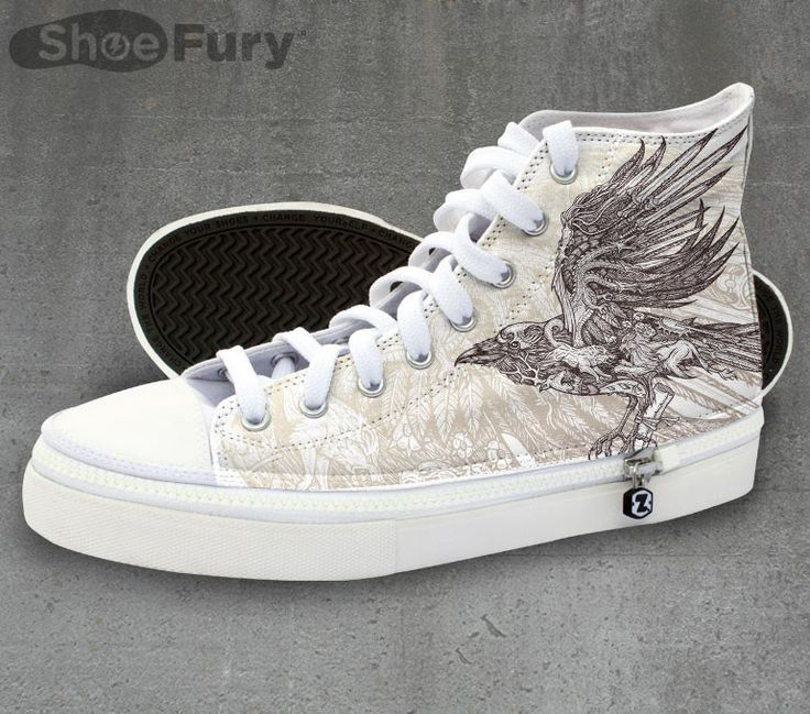 Game of Thrones shoes! Click through to see the closeup of the raven design, it's amazing.