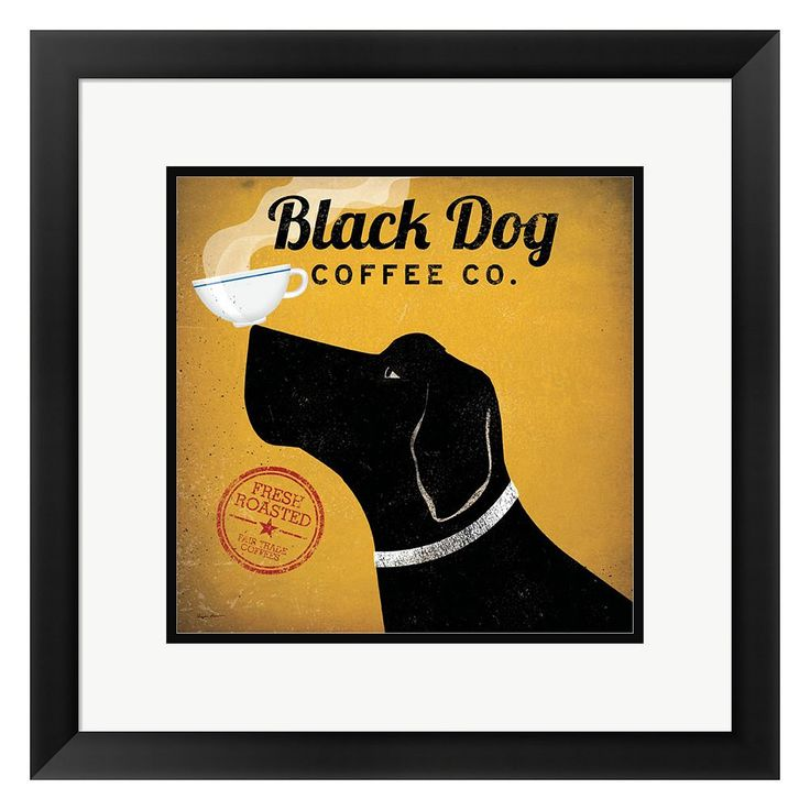 "Metaverse Art ""Black Dog Coffee Co."" Framed Wall Art, Multicolor"