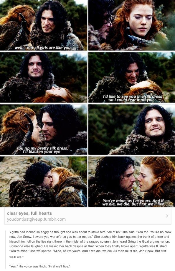 Jon and Ygritte