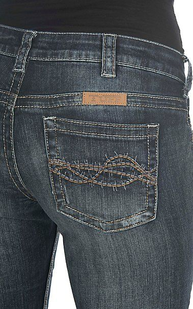 Cowgirl Tuff Women's Dark Wash Dont Fence Me In Boot Cut Jeans | Cavender's