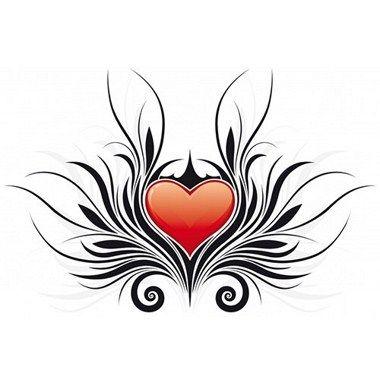 Tatuaje de corazón tribal 4