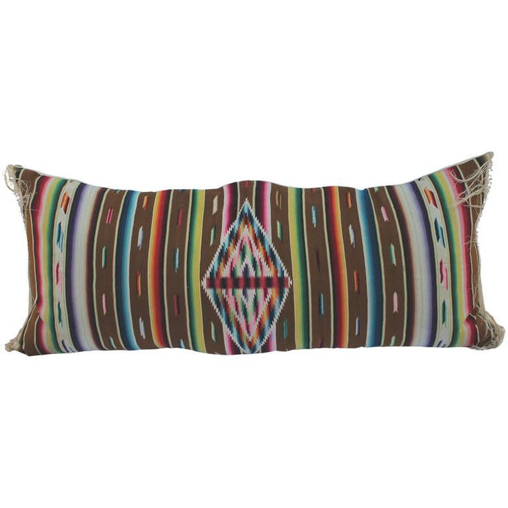 Early Mexican Serape Bolster Pillow | From a unique collection of antique and modern pillows and throws at https://www.1stdibs.com/furniture/more-furniture-collectibles/pillows-throws/