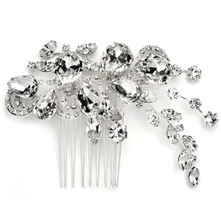 Crystal Bloom Side Comb