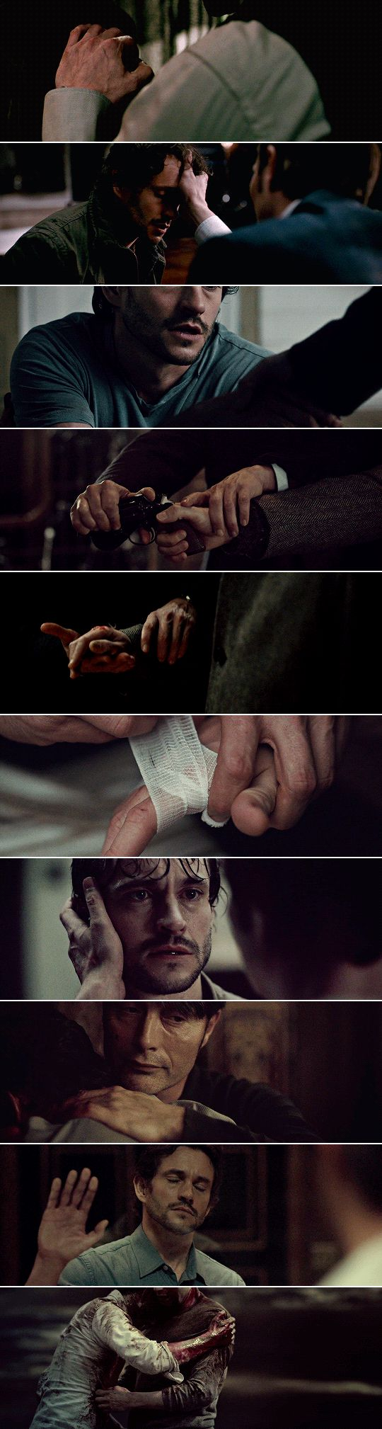 """Do you fantasize about killing me? Tell me, how would you do it?"" ""With my hands. #hannibal"
