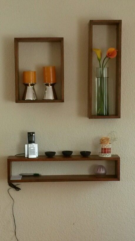 Repisas de madera decoraci n casa pinterest - Madera para decoracion ...