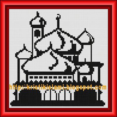 Masjid --small cross stitch pattern FREE