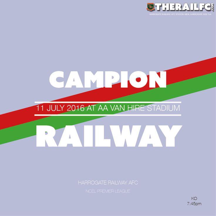 Next fixture: Away to Campion    @therailfc @CampionAFC #NCEL @NCEL #Harrogate