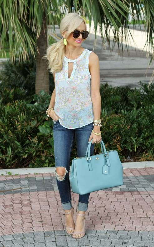I don't love the tattered jeans, but everything else is fantastic