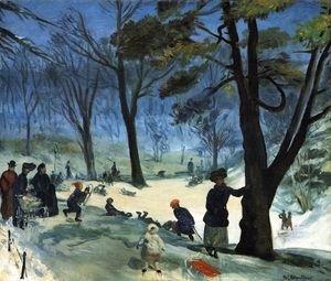 Central Park in Winter  William Glackens