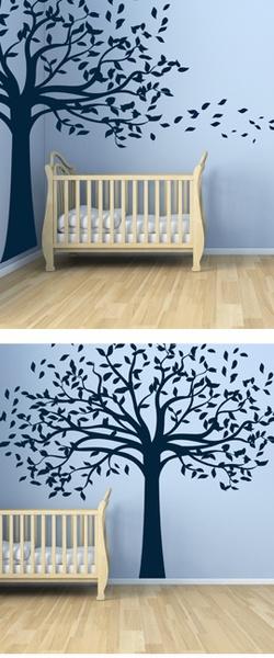 Leafy Shade Tree wall decal  96.00-228.00