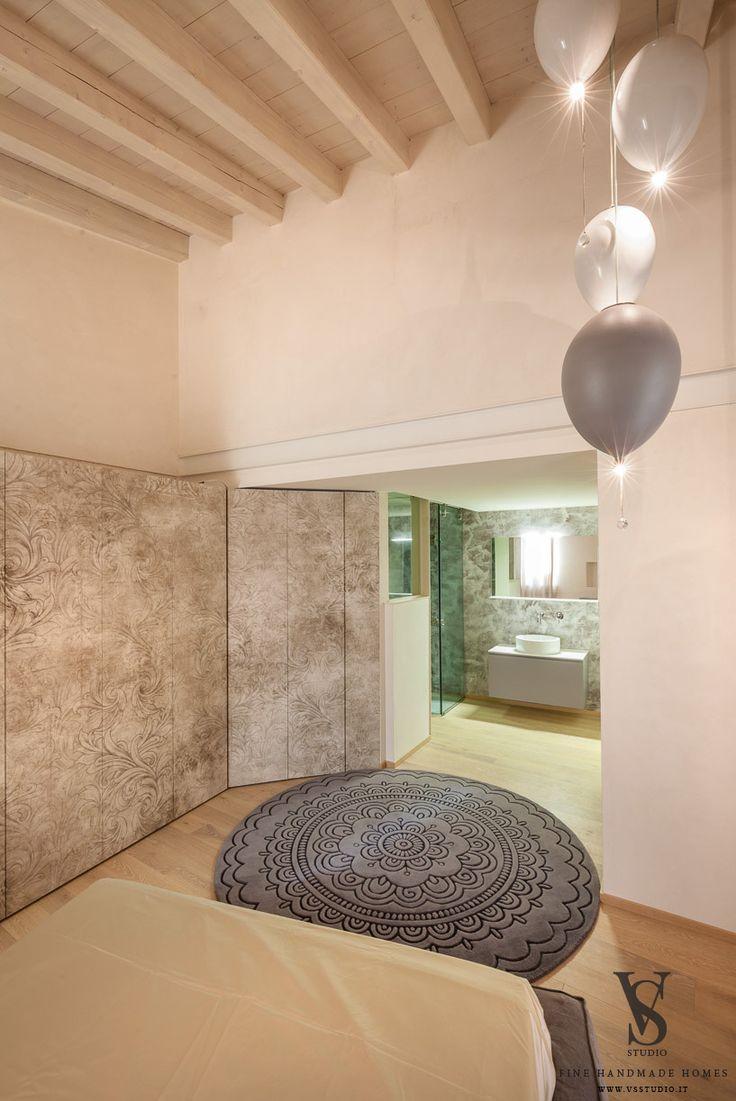 VS Studio - Fine handmade homes #interior design #interior scenography #bedroom #night #mood #custom #ceramics #lamps #tailored #italy