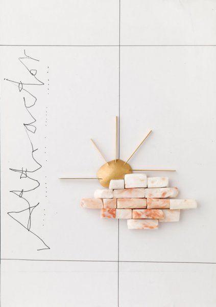 Manfred Bischoff - Attractor 2012 Oro, Corallo delle Hawaii, tecnica mista su cartoncino
