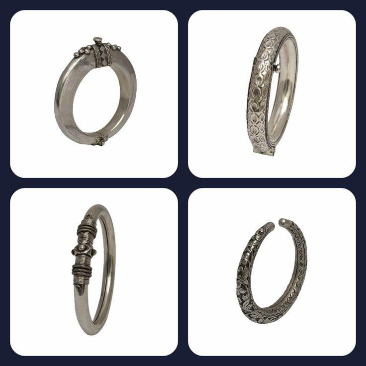 Make a #statement with #Zoyashi's range of #Silver #Bangles and #Kada #SilverJewellery #Ethnic #Jewellery #Indianwear #EthnicWear #Kadaas #India
