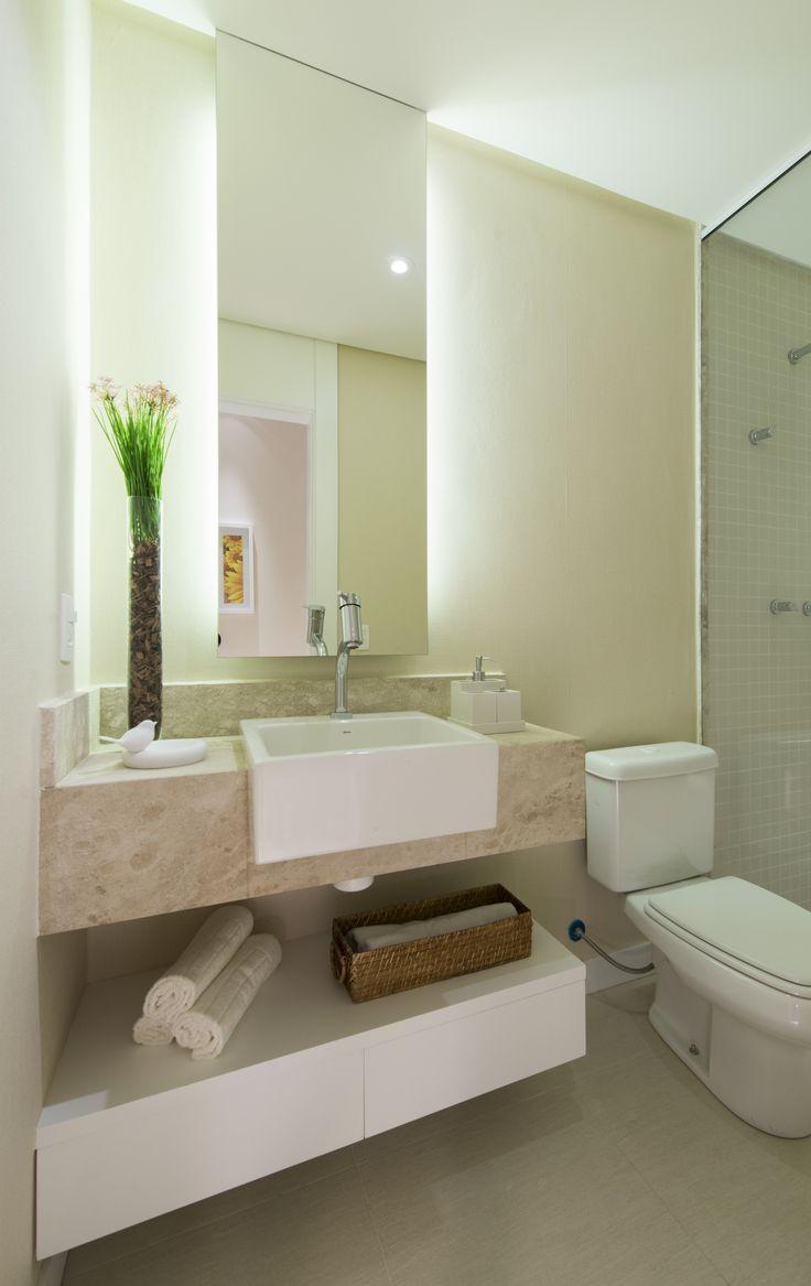 Banheiro decorado do quarto da filha. Cyrela - La Plage - Vila Velha-ES