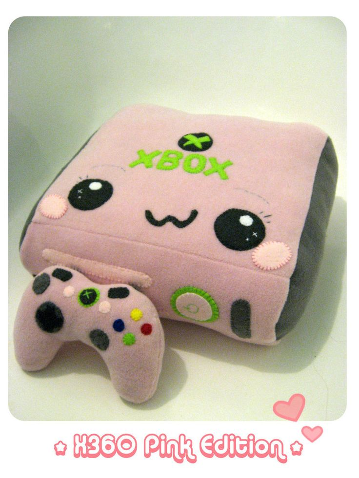 XBOX 360 PINK Plush Edition by *kickass-peanut on deviantART