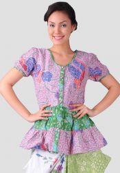 TRE Batik  TRE Batik Blouse Batik Encim Ungu