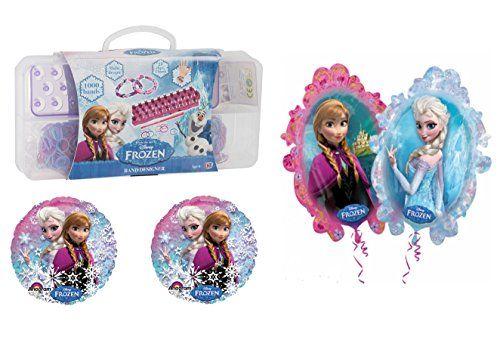 Disney Frozen Birthday Gift Set - 1000 Piece Loom Band Set  3 Foil Balloons @ niftywarehouse.com #NiftyWarehouse #Disney #DisneyMovies #Animated #Film #DisneyFilms #DisneyCartoons #Kids #Cartoons