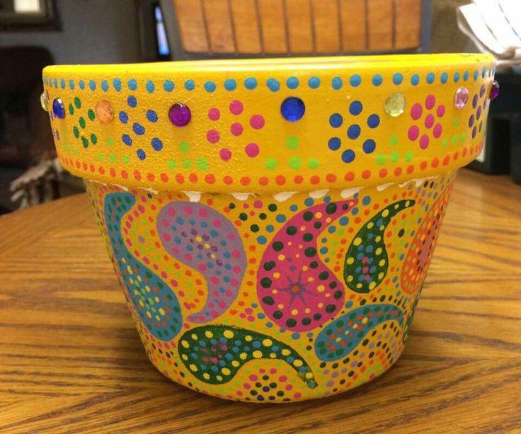 Beautiful painted pot!
