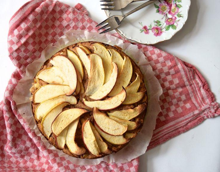 Healthy baking: Appeltaart die ouderwets lekker is, maar dan een gezonde variant! #healthy #appeltaart #appelcake