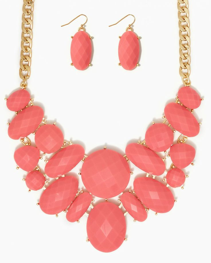 charming charlie | Annabella Bib Necklace Set | UPC: 410006283367 #charmingcharlie $20 bridesmaid?