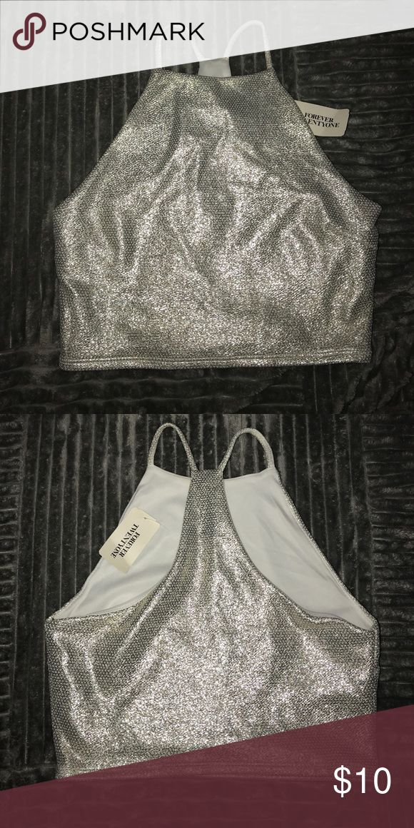 Glitz crop top Sparkly crop top (great for New Years party) Forever 21 Tops Crop Tops