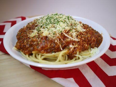 Resep Spaghetti Bolognaise Mudah 11 Youtube Spageti Makanan Resep Makanan