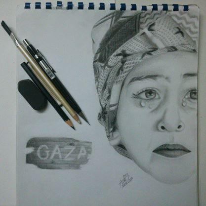 Gaza child - pencils