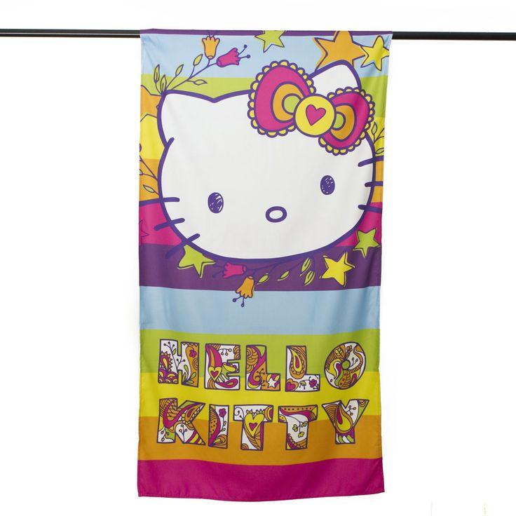 La gattina Kitty sempre con te, anche in spiaggia! Fai felice la tua bambina con il telo mare di Hello Kitty. Cotone pettinato per una pelle morbida e pulita. http://www.carillobiancheria.it/hello-kitty-telo-mare-piscina-bambina-in-morbida-microfibra-75x150-cm-l151.html