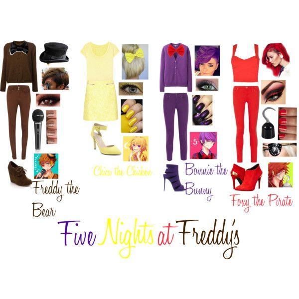 Five Nights at Freddy's by stayingstrongforever on Polyvore featuring moda, Arts & Science, Uniqlo, True Religion, Maison Kitsuné, Sugarhill Boutique, STELLA McCARTNEY, Salsa, Love Moschino and Giuseppe Zanotti