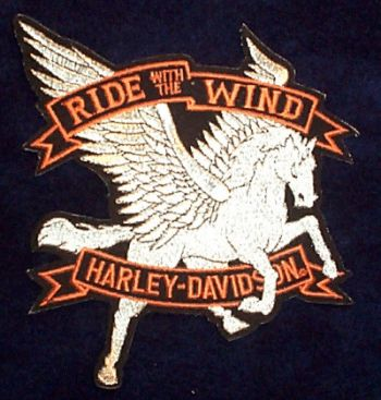 Harley Davidson Pegasus Patch - Harley Davidson Merchandise