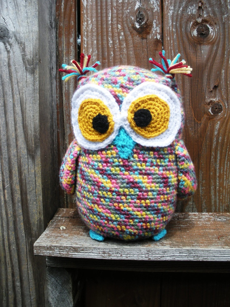 """crochet amigurumi owl softie"" #Amigurumi #crochet"