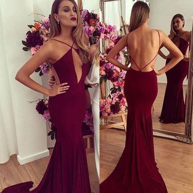 Sexy Backless Real Made Prom Dresses,Long Evening Dresses,Mop the shoulder prom dress,
