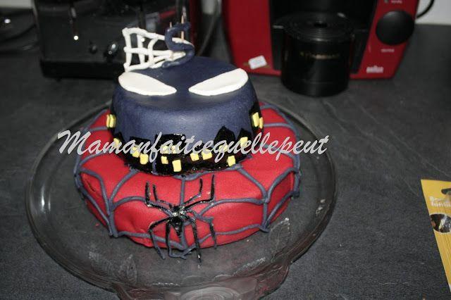 Mamanfaitcequellepeut gâteau pâte a sucre spiderman