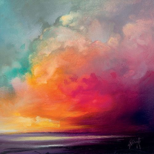 Wandbild Cumuluswolken-Studie bei Sonnenaufgang 1