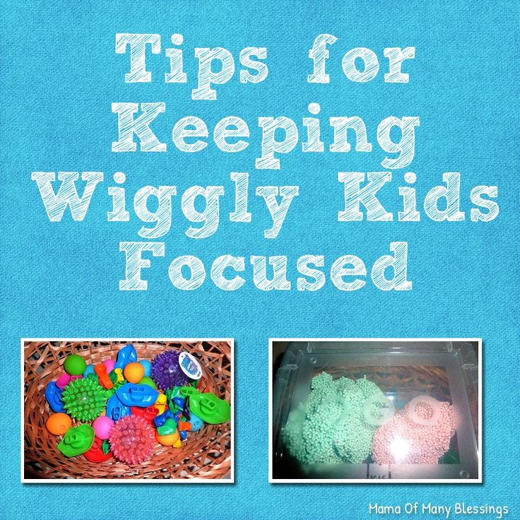 Some tips for keeping wiggly kids focused during school, story time, or seat time activities.