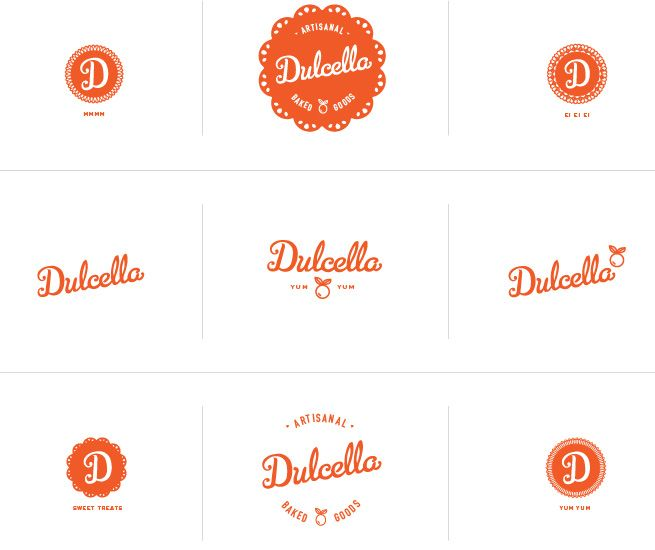 well thought out: Stitches Design, Dulcella Logos, Dulcella Baking, Logos Inspiration, Logos Design, Graphics Design, Design Logos, Stich Design, Badges Logos